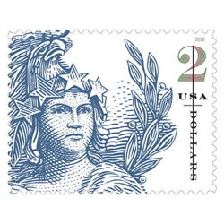 USPS New $2 Statue of Freedom Pane of 10