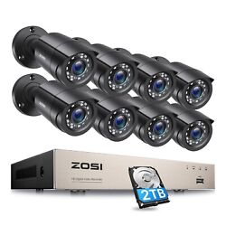 ZOSI 8CH H.265 1080P Home Surveillance Security Camera DVR System Outdoor 1TB $219.99