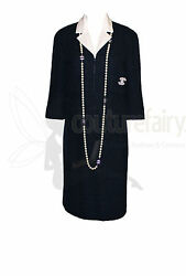 TIMELESS CHANEL CLASSY MIDNIGHT BLUE TWEED SKIRT BUSINESS SUIT