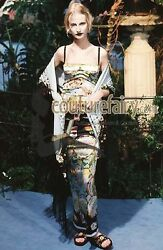 COLLECTOR'S MUSEUM PIECE DOLCE GABBANA CORSET SICILY PRINTED CORSET DRESS GOWN