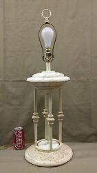 1413M Vtg Roman Grecian Style 31quot; Table Lamp Ivory Color 3WAY Light EXC COND $119.55