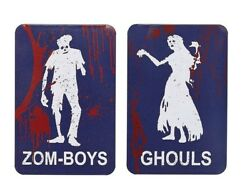 Zomboys And Ghouls Novelty Halloween Restroom Metal Signs $14.85