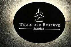 Woodford Reserve Stables Kentucky Derby Racing Lighted Metal Sign  NEW IN BOX