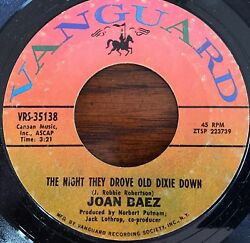 Joan Baez The Night They Drove Old Dixie Down 45RPM 7