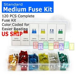 120 pc Assorted Car Fuse Auto Trucks SUV's Replacement fuses regular size blade $7.95