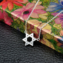 Small Jewish Star Of David Pendant Necklace Sterling Silver 925 Ladies 16quot; 18quot; $14.99