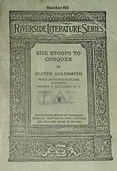 She stoops to conquer (The Riverside literature series)-ExLibrary