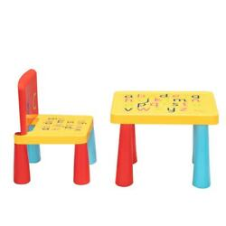 Plastic Play Activity Table and Chair Set Children's kids Indoor Desk outdoor