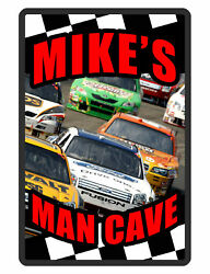 Personalized Man Cave Sign Printed with YOUR NAME auto racing Custom Signs D#212 $13.95