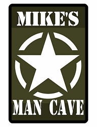 Personalized ARMY Man Cave Sign Printed with YOUR NAME..Custom Signs Design#236 $13.95