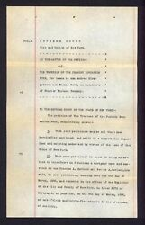 J P Pierpont Morgan 1894 signed Document to help African Americans Peabody Fund