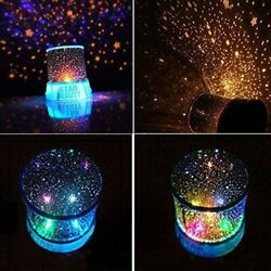 Romantic LED Starry Night Sky Projector Lamp Star Light Master Party Dec $15.95