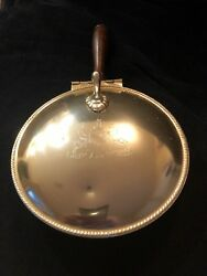 Silver Plated Silent Butler Ashtray Crumb Catcher