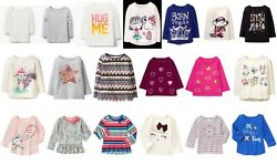 NEW GYMBOREE girls long sleeve tee size 2T 3T 4T 5T YOU PICK Spring Fall Winter $4.99
