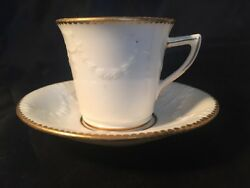 Antique Mortlocks Oxford Street Minions Makers No128611 Cup And Saucer White