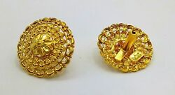EARRING PAIR 22K YELLOW GOLD JEWELRY TRADITIONAL FILIGREE JEWELRY COLLECTION