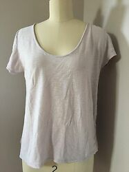Laissez Faire Purple Lavender Cotton Blend Soft Short Sleeve Tee Size S $24.99