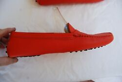 New Dark Orange Leather TOD#x27;S Driving Penny Loafers EU 42 US 12 $220.00