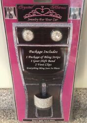 Jewelry for your Car 4pcs Bling Kit Crystal Heiress