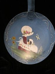 FOLK ART KITCHENWARE SHALLOW LADEL SPOON 10 1 4quot; LONG HANDPAINTED SIGNED $17.95
