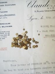 Mix Vintage Antique French Metal Gold Sequins Couture Embroidery Costume 3 amp; 5mm $9.00