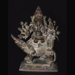 South Indian bronze figure of Ganesha 19th Century A.D. South India. x9634