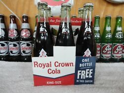 RC ROYAL CROWN DIAMOND  SODA 6-PACK CARTONS WITH FULL BOTTLES AND CAPS 1960'S