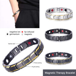 Men Women Therapeutic Energy Healing Magnetic Bracelet Therapy Arthritis Hot!