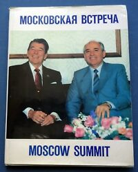 1988 Russian Soviet USSR Book Moscow Summit Gorbachev Reagan End of the Cold War