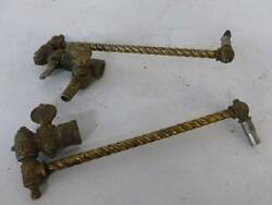 2 Victorian Brass Light Valve Assembly Gas about 9quot; Antique For Parts See Pics $54.00