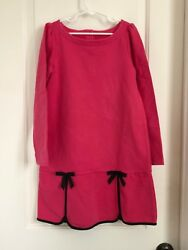 Janie and Jack girls 8 pink black long sleeve dress $17.99
