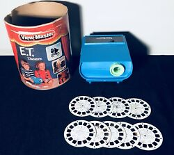 VERY RARE Vintage 1983 ET Theatre View-Master 2D Portable Toy Projector-9 Slides
