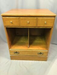 Baumritter Ethan Allen Vintage Nightstand Record Storage End Table Made In USA $349.99
