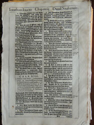 1611 King James She Bible Leaf 1 Samuel chapters 18-19 with CoA