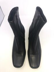 La Canadienne Womens Black Waterproof Leather Harley Boots Size 6.5 M $53.00