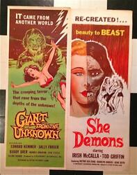 Giant From the Unknown She Demons Jack Pierce Make-Up Monsters Horror Insert Lot