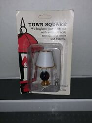 MINIATURE LAMP Town Square light 12 Volt dollhouse diorama table desk shade $10.00