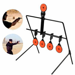 Steel Shooting Targets w 5x Auto Reset Spinning Target Rifle Pistol Range Shoot