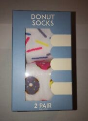 Women Novelty Funny Crew Socks Donut Sprinkle Size 9 11 $7.99