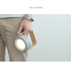 Wooden Handle Portable Lantern Dimmable Light LED Table Desk Lamp Touch Foldable $26.47