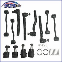 12Pcs Front Suspension Kit Tie Rod Ball Joint For 1999-2004 Jeep Grand Cherokee $67.88
