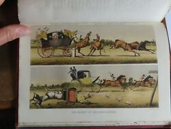 1876 ANNALS OF THE ROAD MAIL & STAGE COACHING IN GB BY MALET 10 COL PLTS ROYAL *