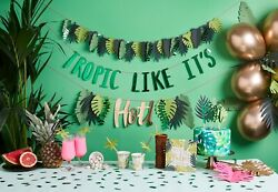 Tropical Hawaiin Beach Party Decorations. Cups Straws Bunting Confetti etc. GBP 6.59