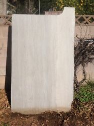 MARBLE SLAB USED LIGHT GRAY GREY WITH DARKER VEINS
