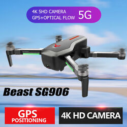 Beast SG906 5G Wifi GPS FPV Drone w/ 4K Camera Foldable RC Quadcopter+3Baterries $138.69