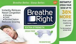 Breathe Right Nasal Strips Extra Strength Clear Snoring Relief 6 - 144