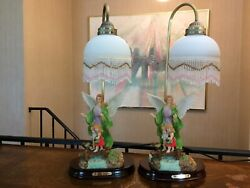 2 Identical Vintage The Crosa Collection table lamps Angel With Children