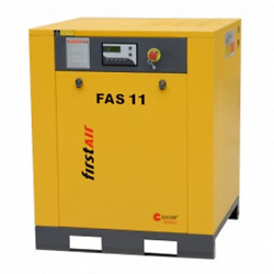 First Air FAS11 15-HP Tankless Rotary Screw Air Compressor (460V 3-Phase 150PSI)