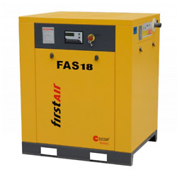 First Air FAS18 25-HP Tankless Rotary Screw Air Compressor (230V 3-Phase 125PSI)
