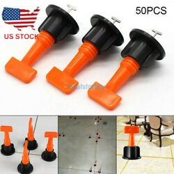 50Pcs Flat Ceramic Floor Wall Construction Tool Reusable Tile Leveling System BE